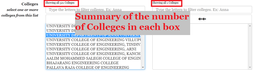 add colleges in TNEAhelp colleges-finder - summary